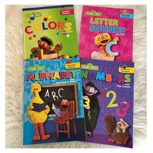 4 SESAME STREET Educational Workbooks NWOT